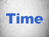 Time concept: Time on wall background — Foto de Stock