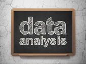 Information concept: Data Analysis on chalkboard background — Foto Stock