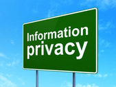 Security concept: Information Privacy on road sign background — Stockfoto