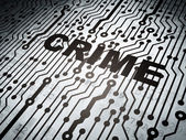 Security concept: circuit board with Crime — Stock Photo