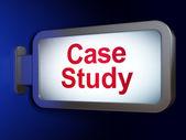Education concept: Case Study on billboard background — Stockfoto