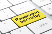 Security concept: Password Security on computer keyboard background — Stock Photo