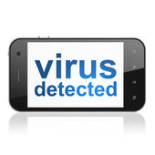 Safety concept: Virus Detected on smartphone — Stock Photo
