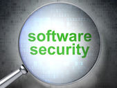 Security concept: Software Security with optical glass — Stock Photo