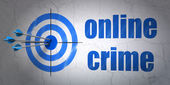 Privacy concept: target and Online Crime on wall background — Foto de Stock