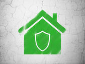 Business concept: Home on wall background — 图库照片