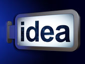 Marketingconcept: idee op billboard achtergrond — Stockfoto