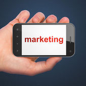 Advertising concept: Marketing on smartphone — Stock Photo
