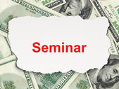Education concept: Seminar on Money background — Stock Photo