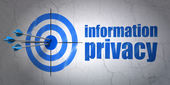Safety concept: target and Information Privacy on wall background — Photo