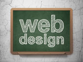 Web design concept: Web Design on chalkboard background — Stock Photo