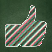Social media concept: Thumb Up on chalkboard background — Stock Photo
