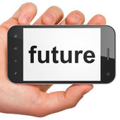 Time concept: Future on smartphone — Foto de Stock