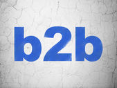 Business concept: B2b on wall background — Stock Photo