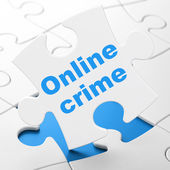 Security concept: Online Crime on puzzle background — Foto Stock