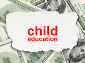 Education concept: Child Education on Money background — Stock Photo