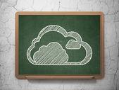 Cloud computing concept: Cloud on chalkboard background — Stok fotoğraf