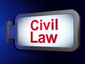 Law concept: Civil Law on billboard background — Stock Photo