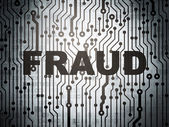 Safety concept: circuit board with Fraud — Stock Photo