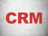 Business concept: CRM on wall background — Foto Stock