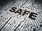 Protection concept: circuit board with Safe — Stock Photo