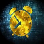 Time concept: Alarm Clock on digital background — Stock Photo #40060851