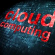Cloud technology concept: Cloud Computing on digital background — 图库照片