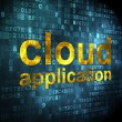 Cloud networking concept: Cloud Application on digital background — 图库照片