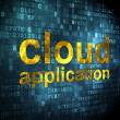 Cloud networking concept: Cloud Application on digital background — Stock fotografie