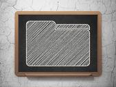Business concept: Folder on chalkboard background — Stock Photo