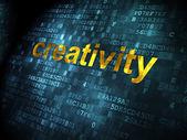 Advertising concept: Creativity on digital background — Stok fotoğraf