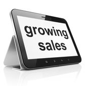 Business concept: Growing Sales on tablet pc computer — Stock Photo
