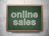 Marketing concept: Online Sales on chalkboard background — Stock Photo