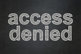 Privacy concept: Access Denied on chalkboard background — Stock Photo