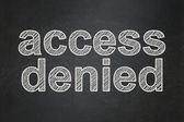 Privacy concept: Access Denied on chalkboard background — Stok fotoğraf
