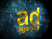 Advertising concept: Ad Agency on digital background — Stock Photo