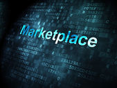 Marketing concept: Marketplace on digital background — Stock Photo