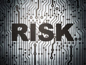 Finance concept: circuit board with Risk — Stock Photo
