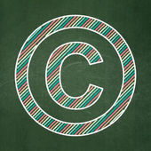 Law concept: Copyright on chalkboard background — Stock Photo