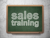 Marketing concept: Sales Training on chalkboard background — Stock Photo