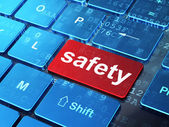 Protection concept: Safety on computer keyboard background — Foto de Stock