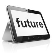 Timeline concept: Future on tablet pc computer — Stock Photo