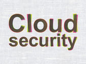 Privacy concept: Cloud Security on fabric texture background — Foto de Stock