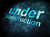 SEO web development concept: Under Construction on digital background — Stock Photo