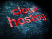 Cloud technology concept: Cloud Hosting on digital background — Foto Stock