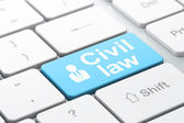 Law concept: Business Man and Civil Law on computer keyboard background — Foto Stock