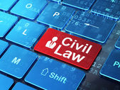 Law concept: Business Man and Civil Law on computer keyboard background — Stock Photo