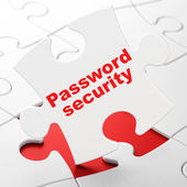 Security concept: Password Security on puzzle background — Stock Photo