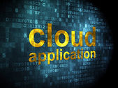 Cloud networking concept: Cloud Application on digital background — Stock Photo