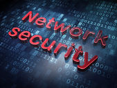 Security concept: Red Network Security on digital background — Stock Photo